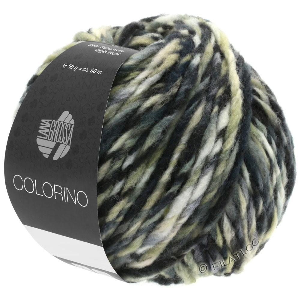 Lana Grossa COLORINO | 12-brun foncé/beige/gris/anthracite