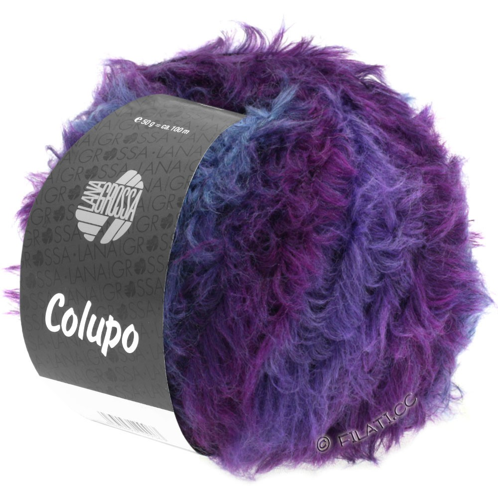 Lana Grossa COLUPO | 11-gris foncé/violet