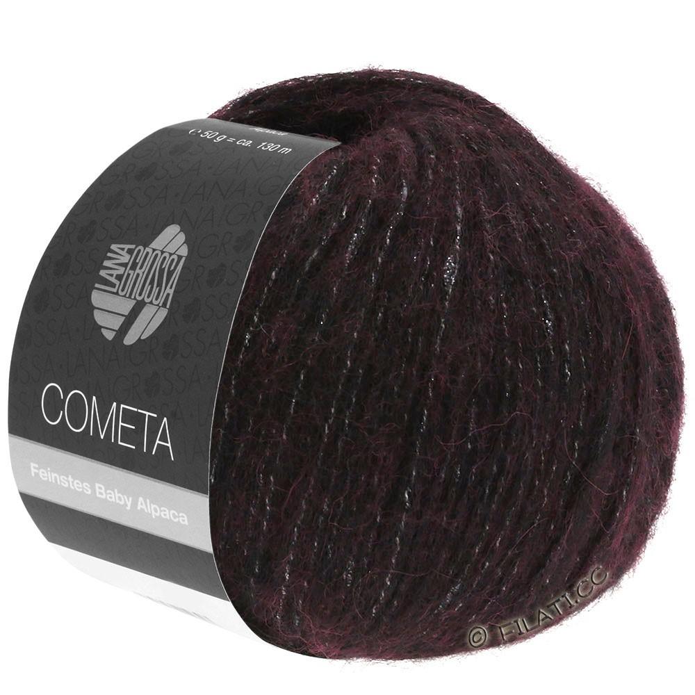 Lana Grossa COMETA | 006-rouge noir/argent