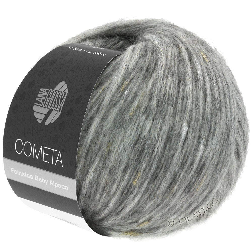 Lana Grossa COMETA | 009-gris clair/doré/argent