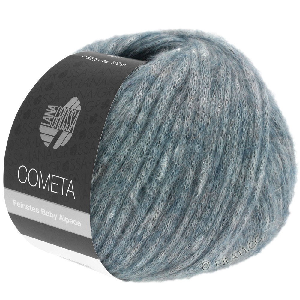 Lana Grossa COMETA | 010-bleu gris/argent