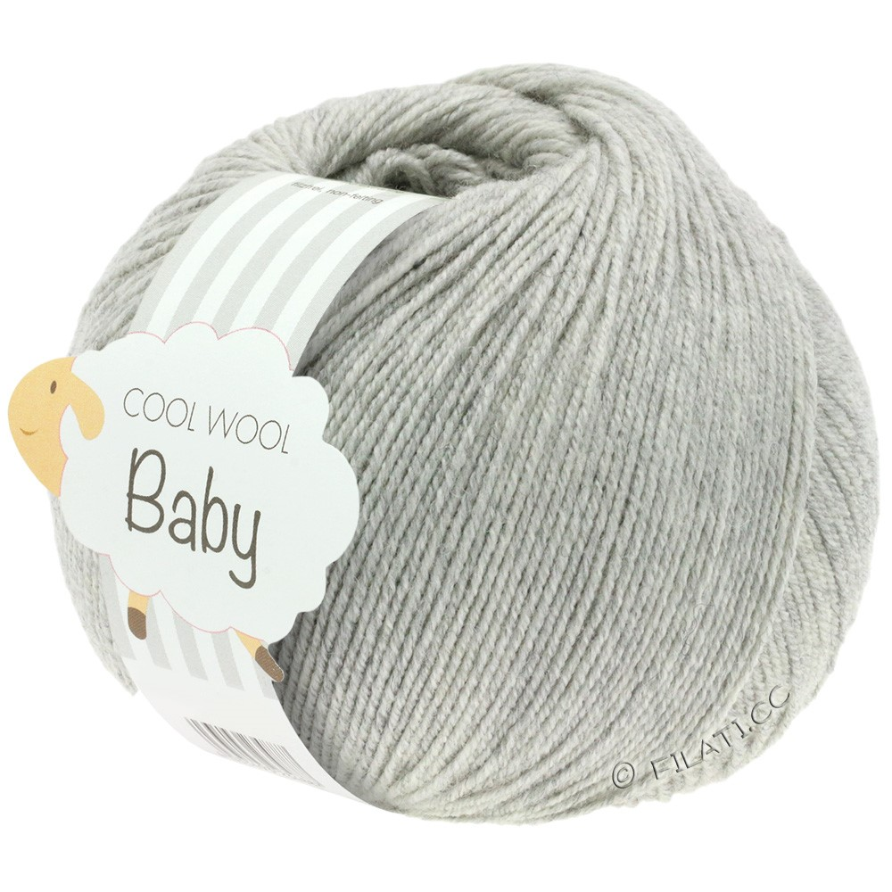 Lana Grossa COOL WOOL Baby | 206-gris clair chiné