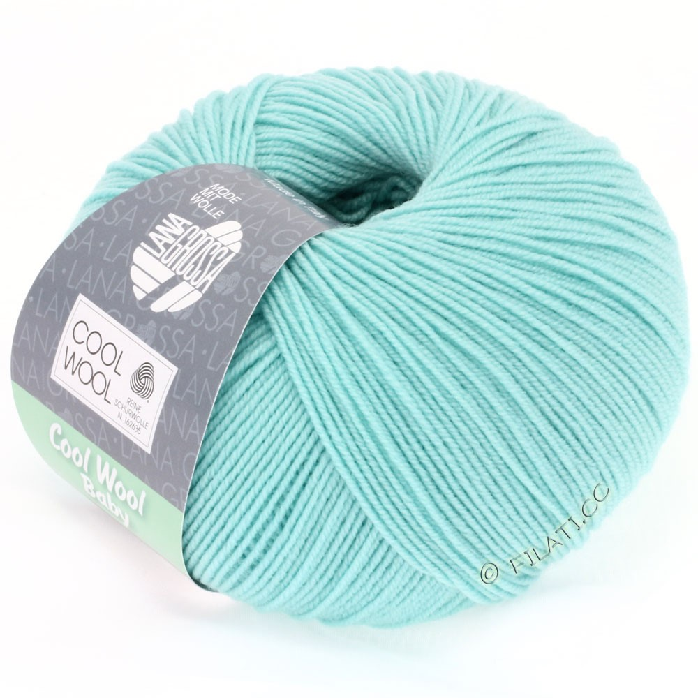 Lana Grossa COOL WOOL Baby Uni/Degradé | 230-turquoise clair