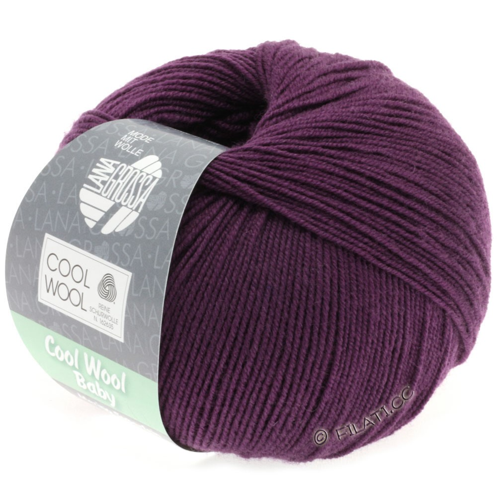 Lana Grossa COOL WOOL Baby | 248-violet foncé