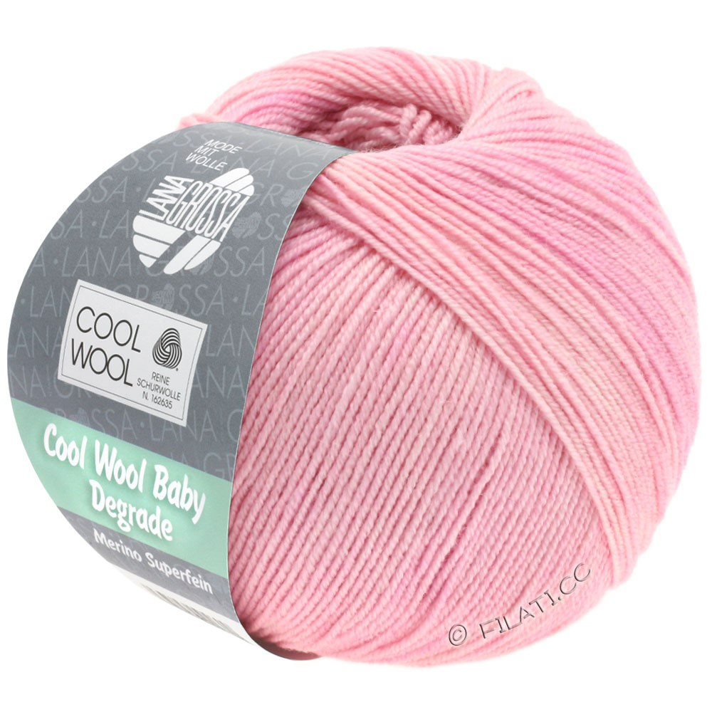 Lana Grossa COOL WOOL Baby Degradé | 501-rose délicat/rose/lilas