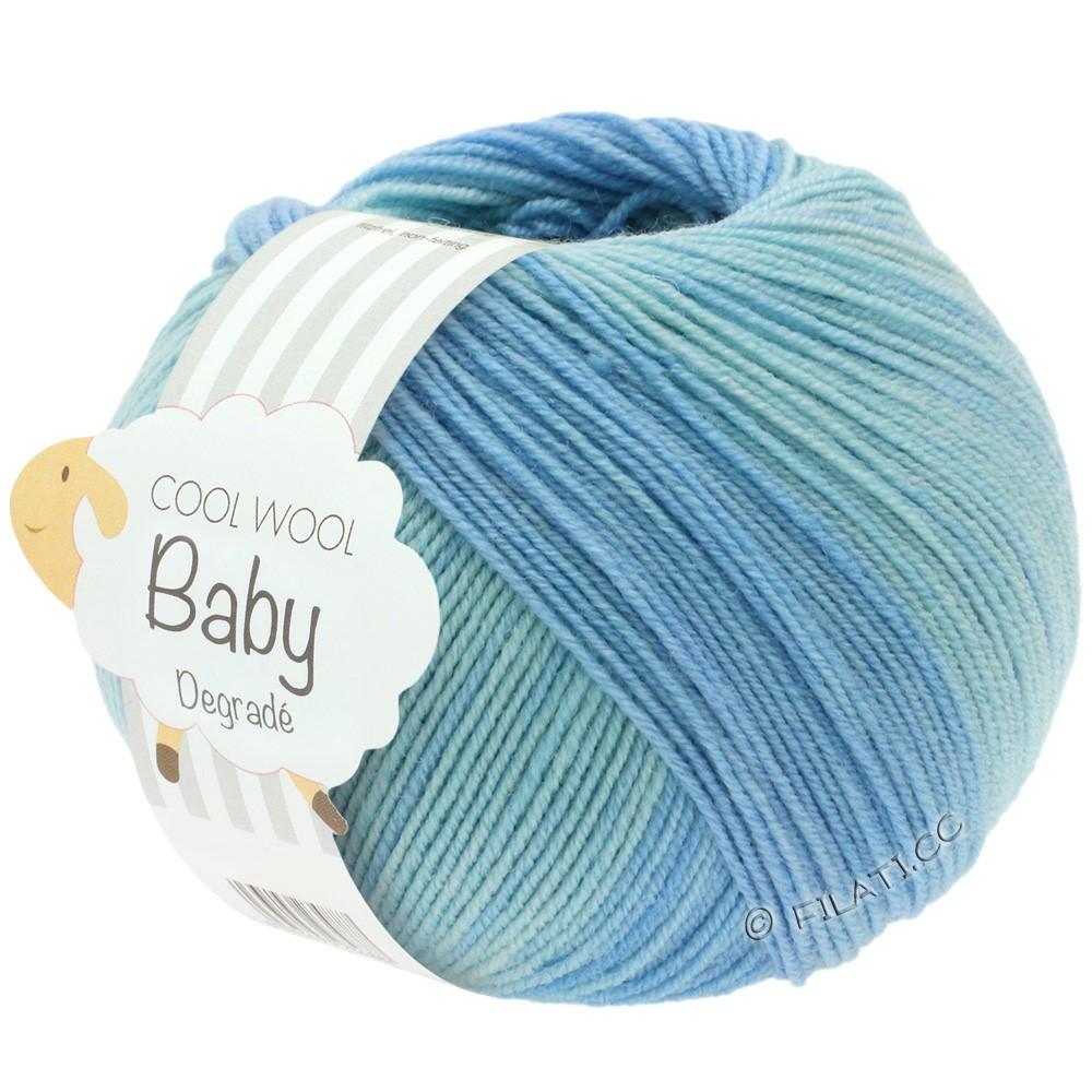 Lana Grossa COOL WOOL Baby Uni/Degradé   503-bleu pâle/bleu tendre/bleu clair/anémone
