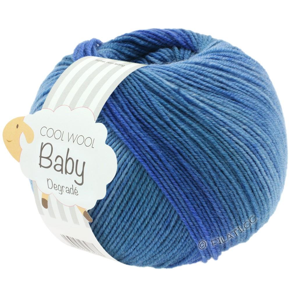 Lana Grossa COOL WOOL Baby Uni/Degradé   504-jean/bleu moyen/bleu foncé