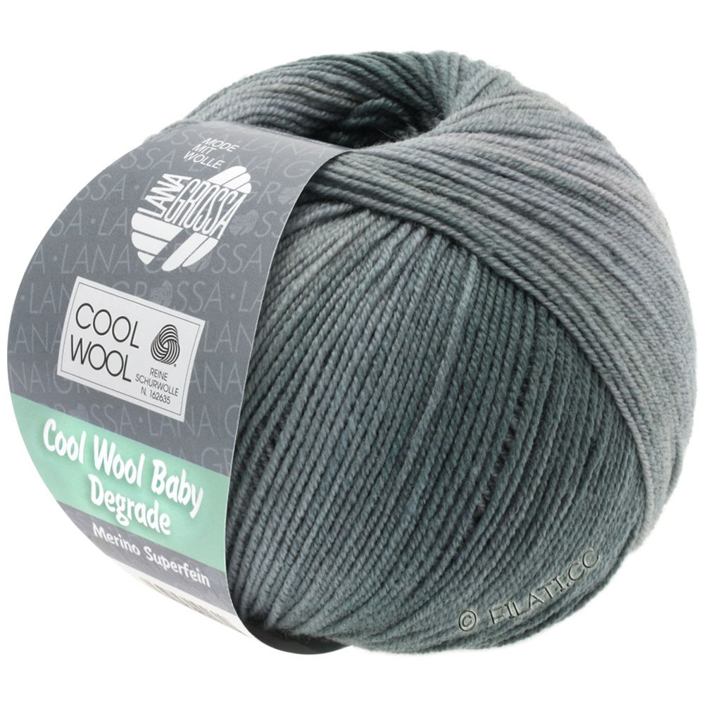 Lana Grossa COOL WOOL Baby Degradé | 506-gris clair/gris pierre/graphite