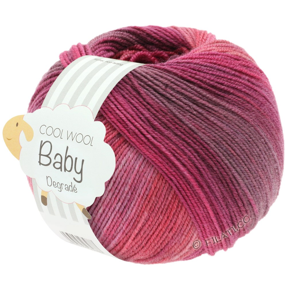 Lana Grossa COOL WOOL Baby Degradé | 507-baies/violette antique/framboise