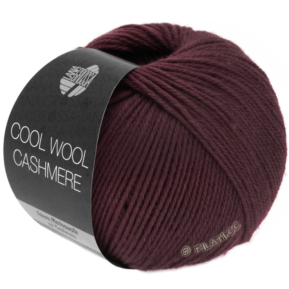 Lana Grossa COOL WOOL Cashmere | 20-bourgogne