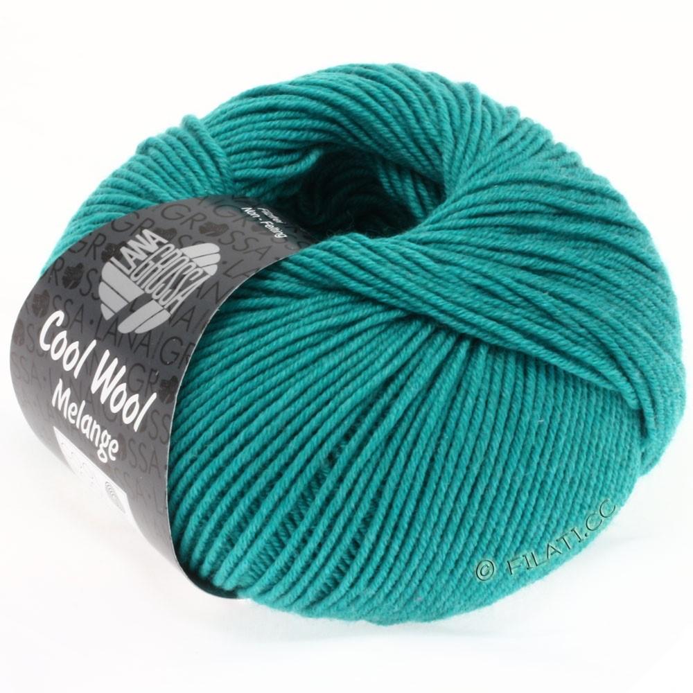 Lana Grossa COOL WOOL  Uni/Melange/Print/Degradé/Neon | 0110-turquoise/pétrole chiné