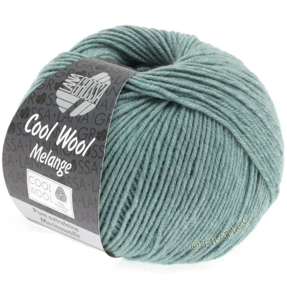Lana Grossa COOL WOOL  Uni/Melange/Print/Degradé/Neon | 0132-gris vert chiné