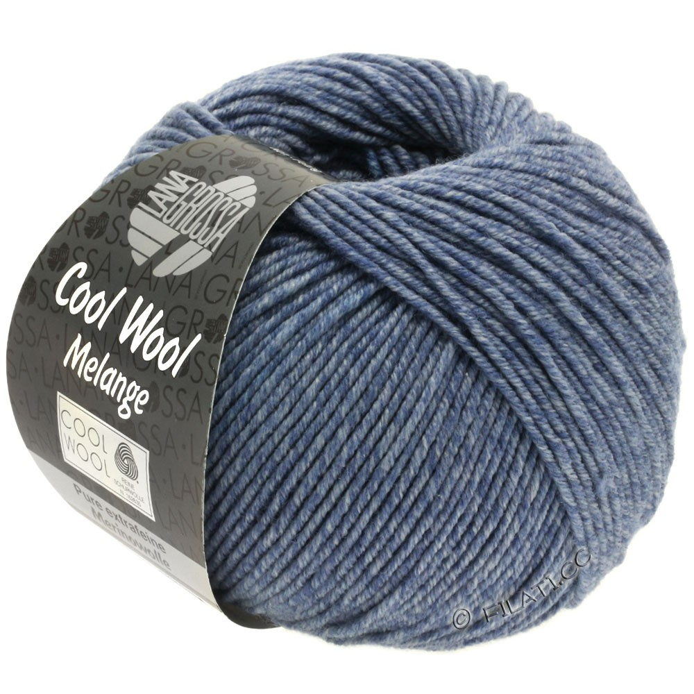 Lana Grossa COOL WOOL  Uni/Melange/Print/Degradé/Neon | 0141-jean/gris chiné