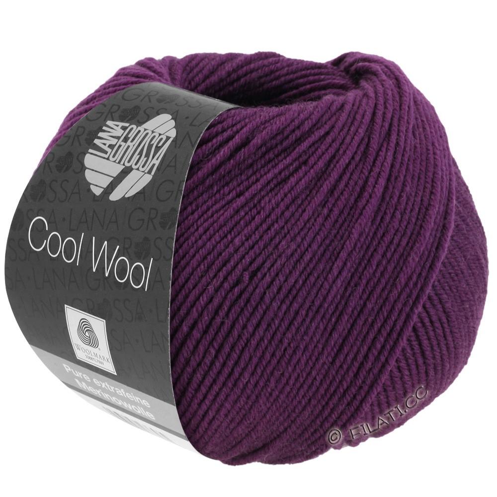Lana Grossa COOL WOOL  Uni/Melange/Print/Degradé/Neon | 2023-violet foncé
