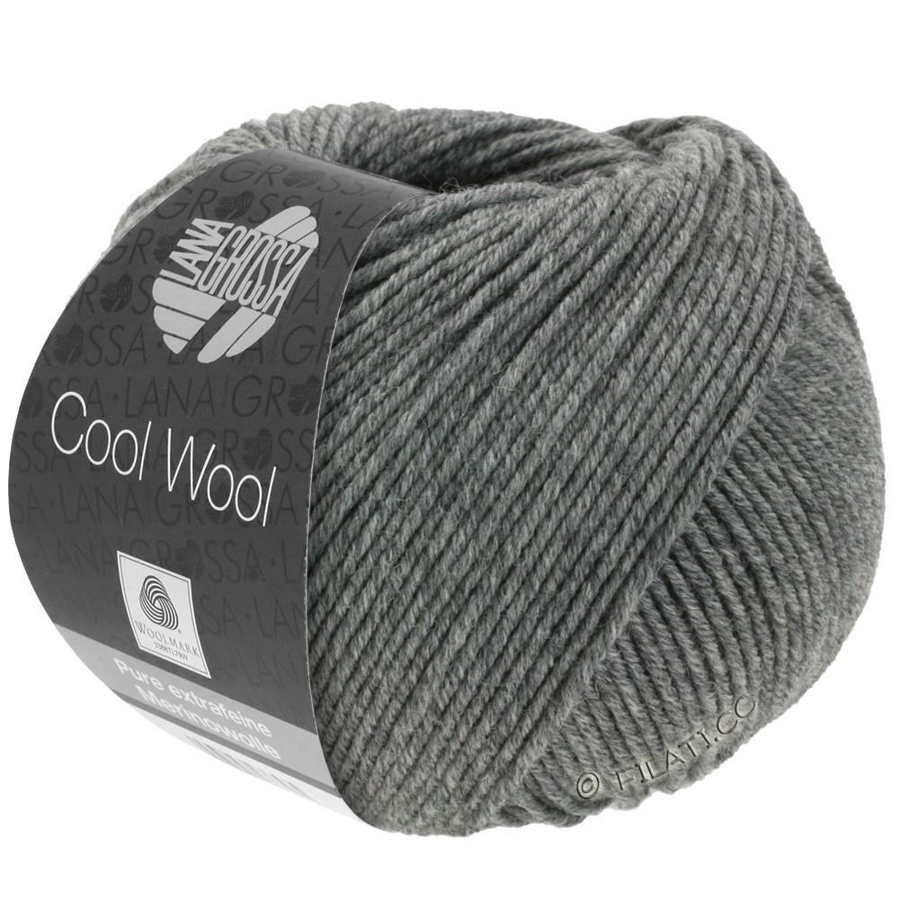 Lana Grossa COOL WOOL  Uni/Melange/Print/Degradé/Neon | 0412-gris foncé chiné