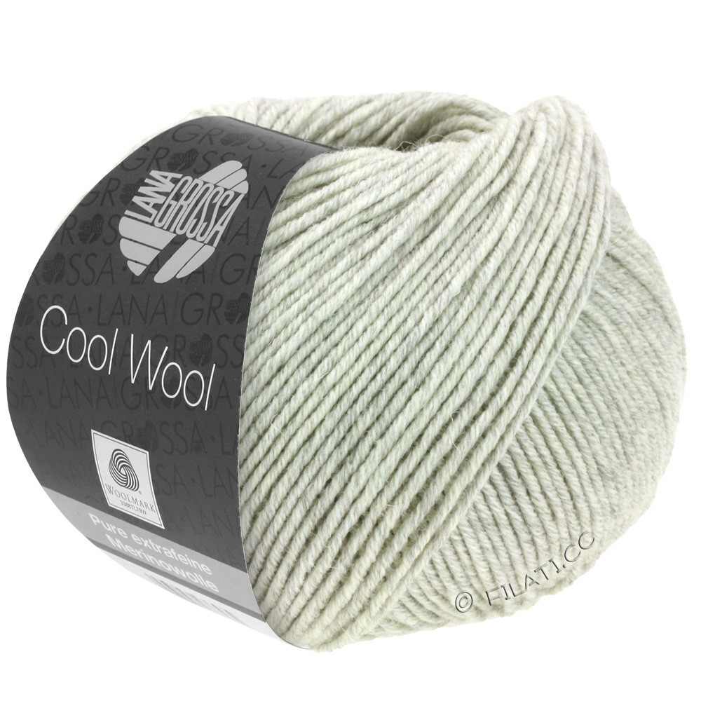 Lana Grossa COOL WOOL  Uni/Melange/Print/Degradé/Neon | 0443-gris clair chiné