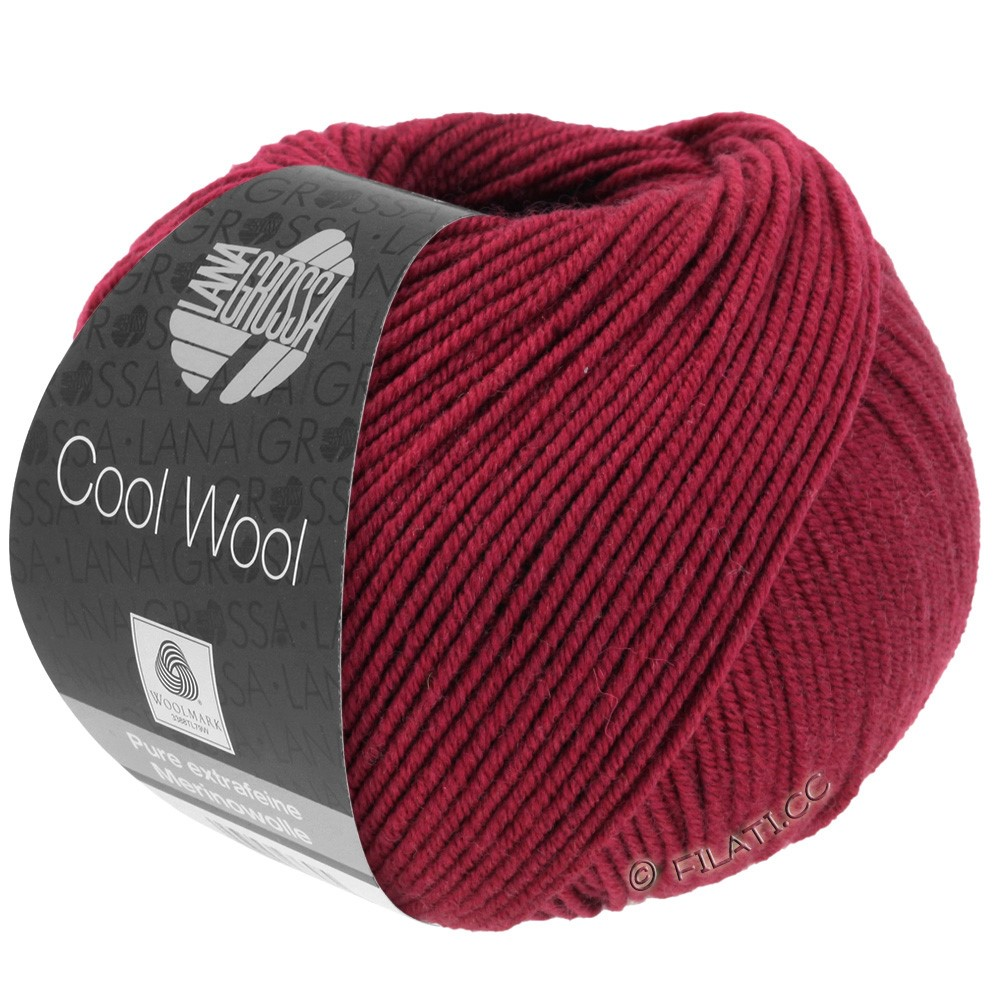 Lana Grossa COOL WOOL  Uni/Melange/Print/Degradé/Neon | 0468-rouge vin