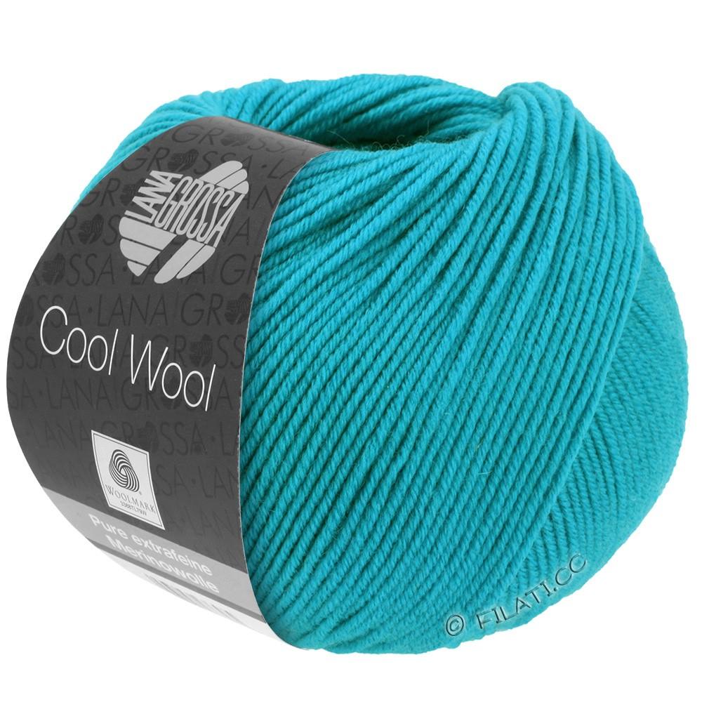 Lana Grossa COOL WOOL  Uni/Melange/Print/Degradé/Neon | 0502-bleu turquoise