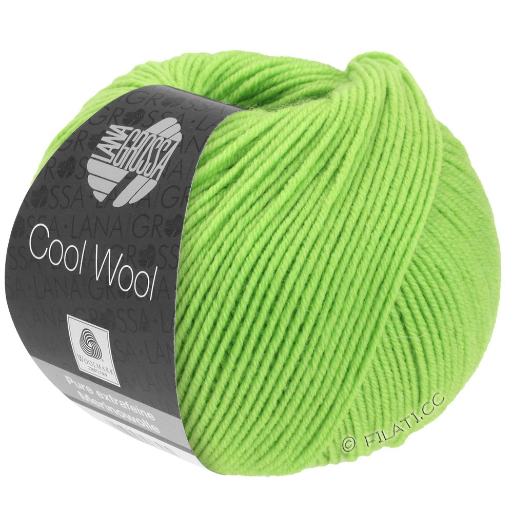 Lana Grossa COOL WOOL  Uni/Melange/Print/Degradé/Neon | 0509-vert clair