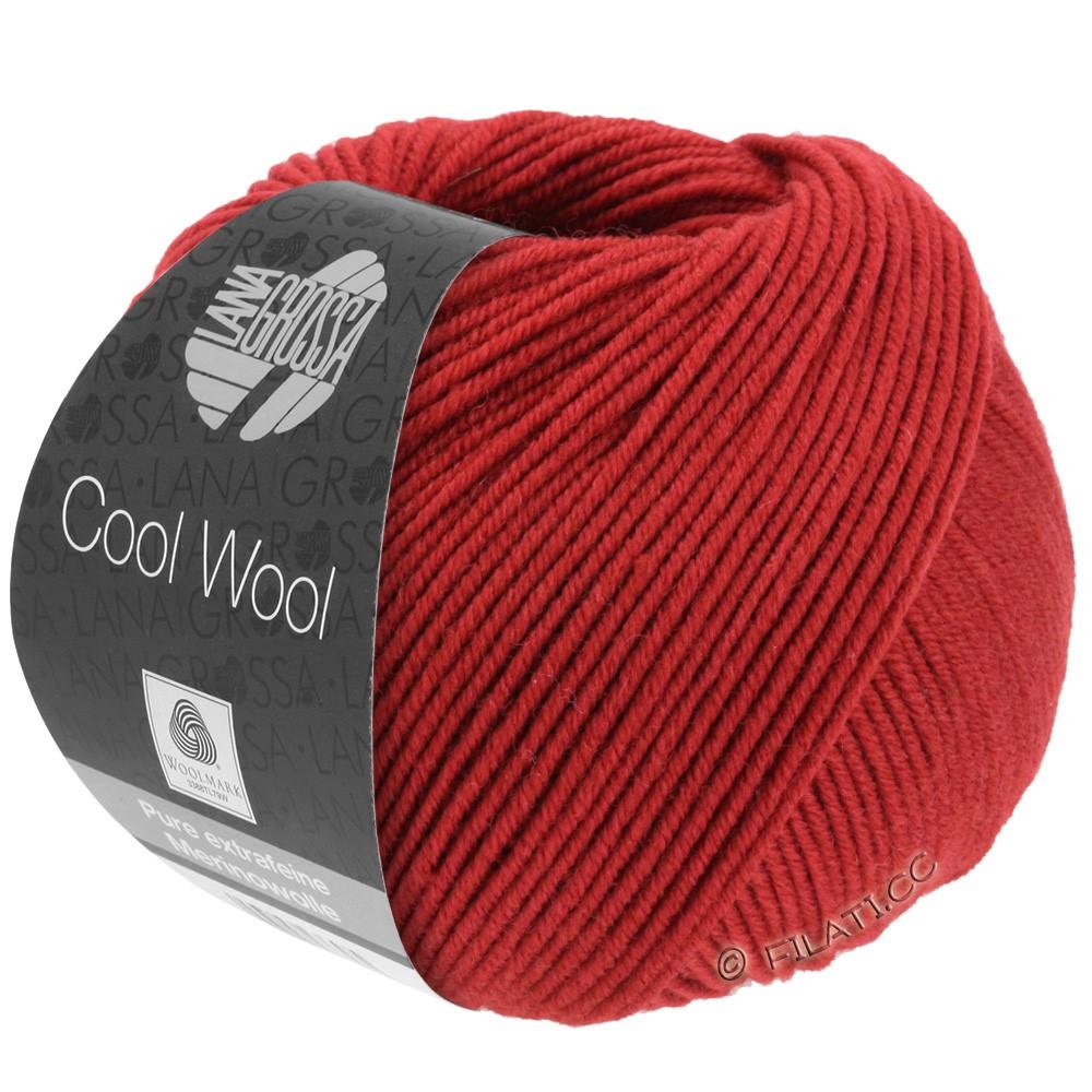 Lana Grossa COOL WOOL  Uni/Melange/Print/Degradé/Neon | 0514-rouge foncé