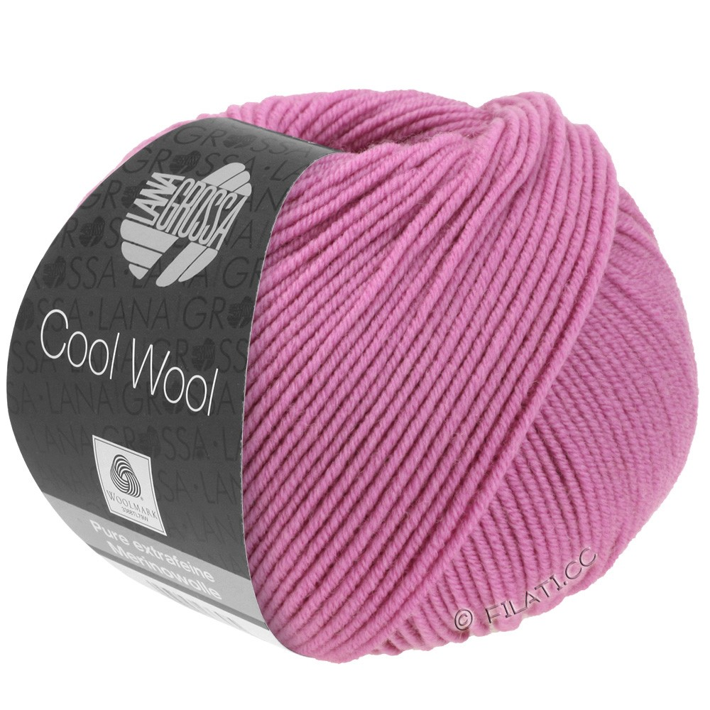 Lana Grossa COOL WOOL  Uni/Melange/Print/Degradé/Neon | 0530-fuchsia foncé