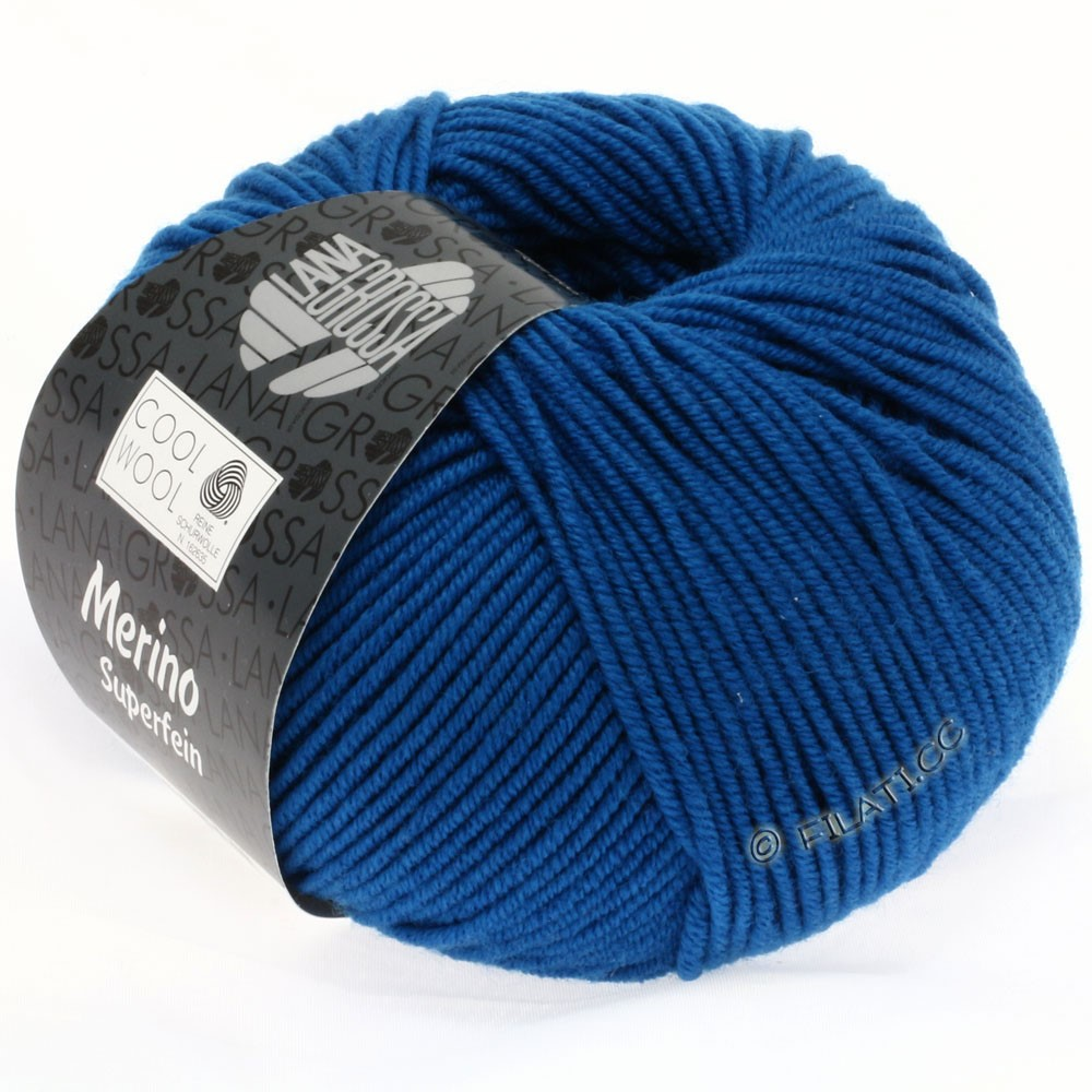 Lana Grossa COOL WOOL  Uni/Melange/Print/Degradé/Neon | 0598-bleu pétrole