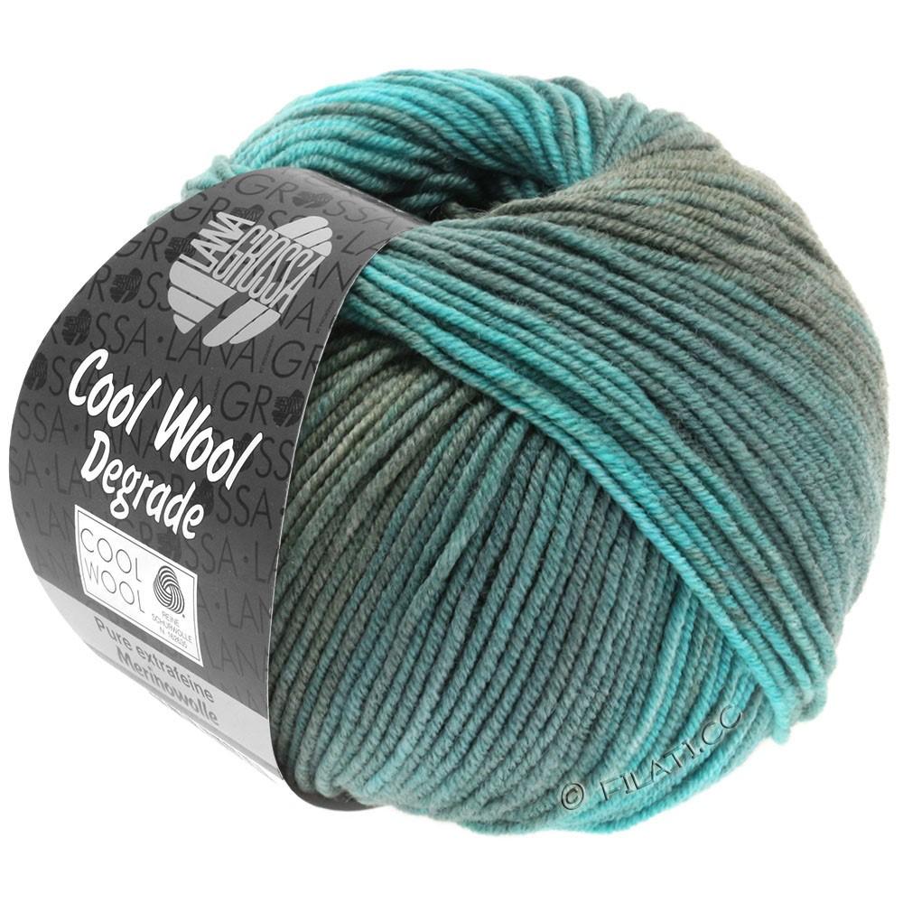 Lana Grossa COOL WOOL  Uni/Melange/Print/Degradé/Neon | 6006-turquoise/vert réséda/pétrole