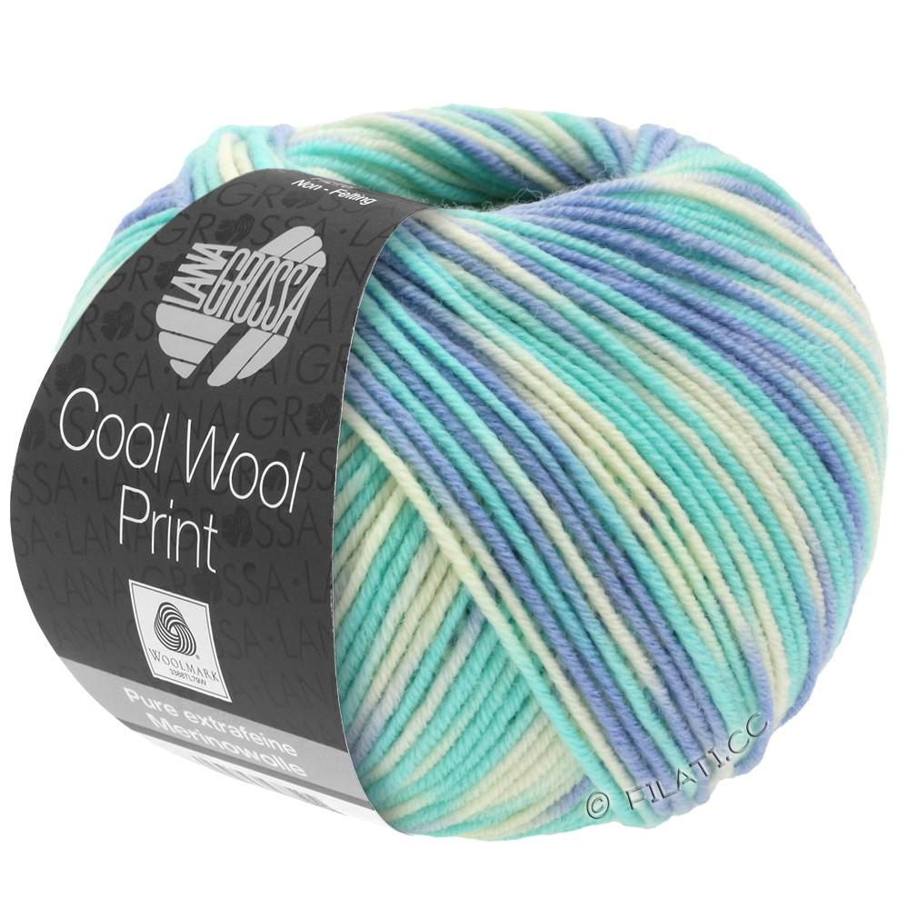 Lana Grossa COOL WOOL  Print | 728-bleu ciel/turquoise clair/nature