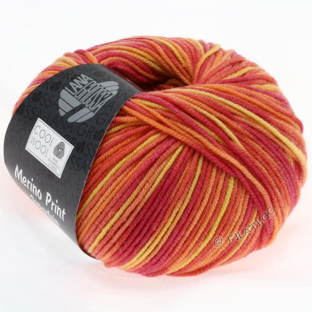 Lana Grossa COOL WOOL  Uni/Melange/Print/Degradé/Neon | 755-framboise/orange/jaune