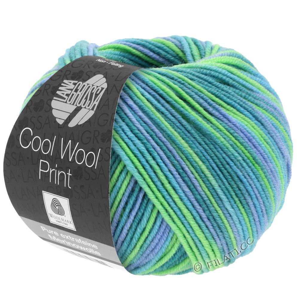 Lana Grossa COOL WOOL  Print | 757-turquoise/pétrole/bleu ciel/vert clair