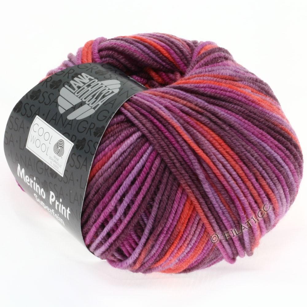 Lana Grossa COOL WOOL  Print | 787-cyclamen/corail/lilas/mûre