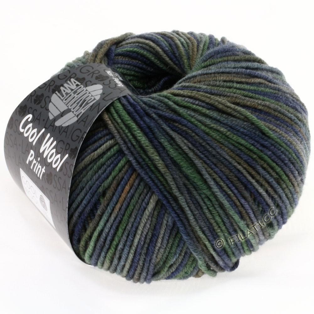 Lana Grossa COOL WOOL  Uni/Melange/Print/Degradé/Neon | 789-marine/gris vert/gris foncé/galet