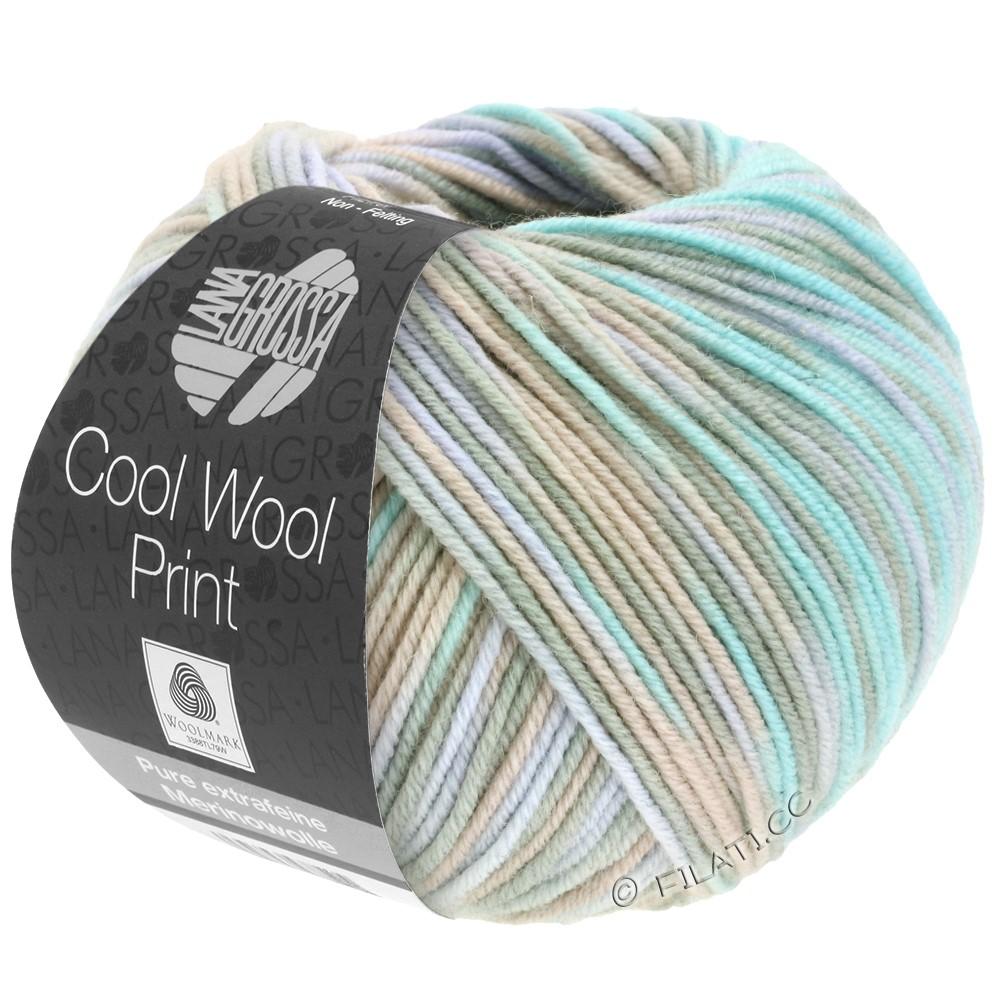 Lana Grossa COOL WOOL  Print | 793-grège/beige/menthe/pourpre pâle
