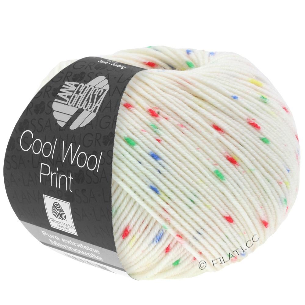 Lana Grossa COOL WOOL  Print | 801-écru/rouge/vert/bleu/jaune