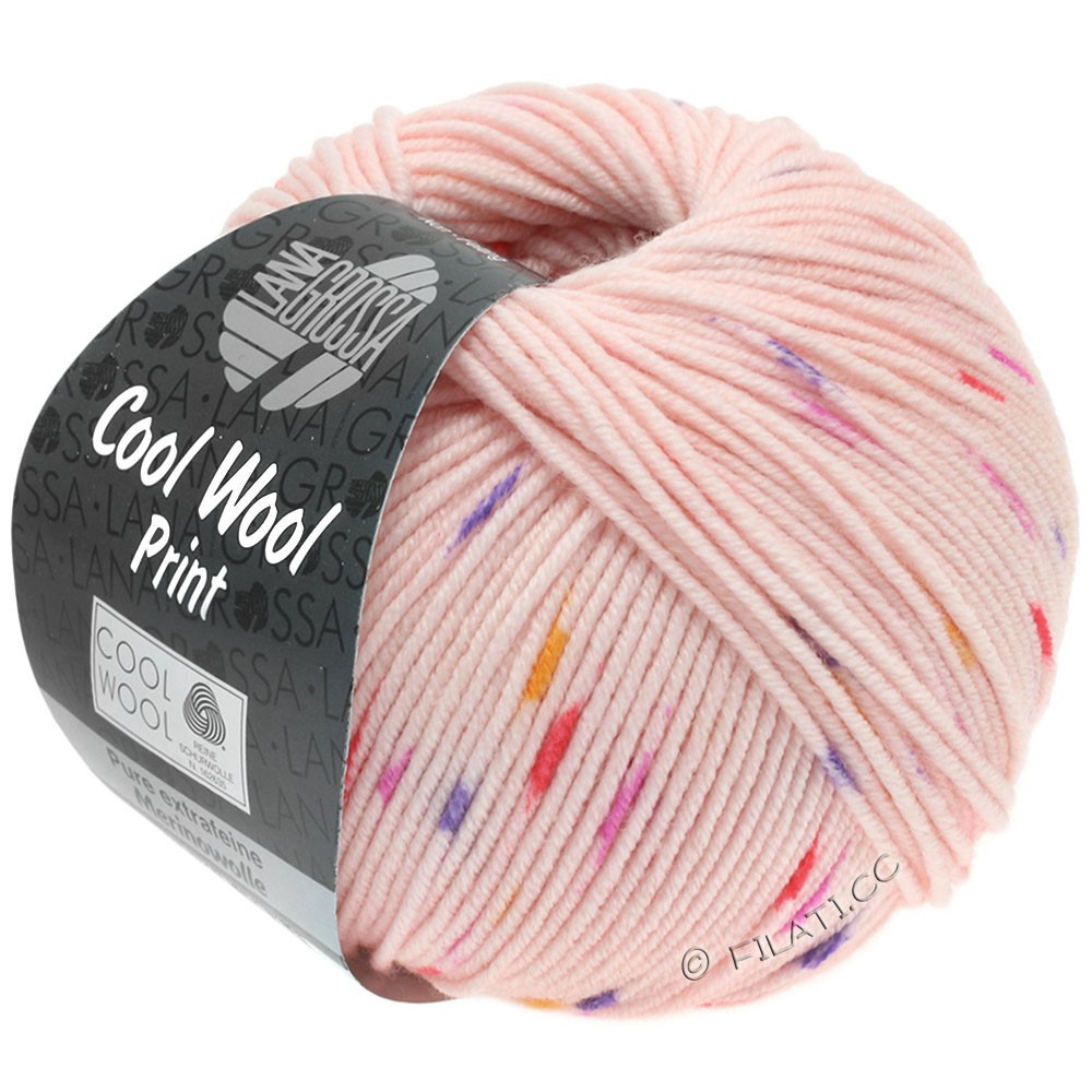 Lana Grossa COOL WOOL  Uni/Melange/Print/Degradé/Neon | 808-rose/rose vif/pourpre/orange
