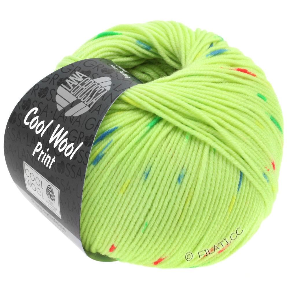 Lana Grossa COOL WOOL  Print | 809-vert clair/rose vif/vert/bleu