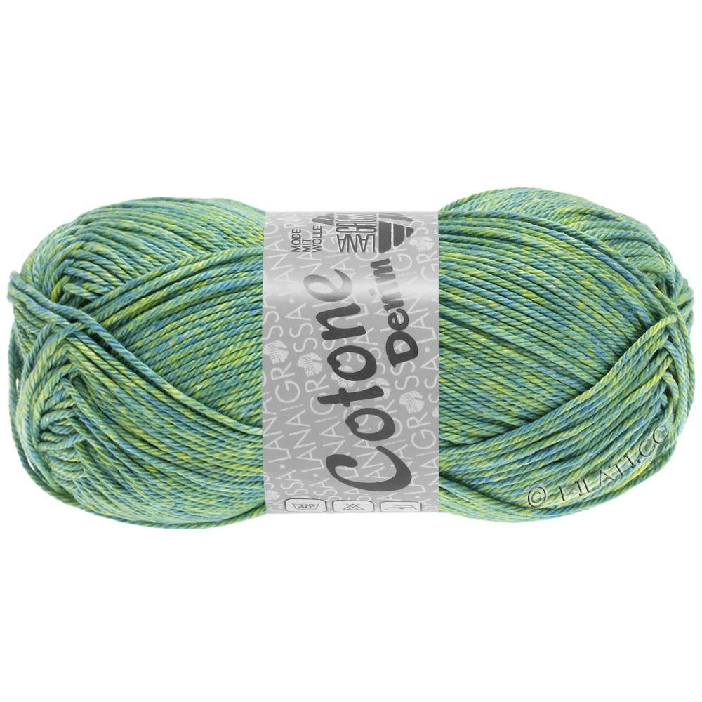 Lana Grossa COTONE  Print/Denim | 705-vert bleu/vert jaune/beau vert