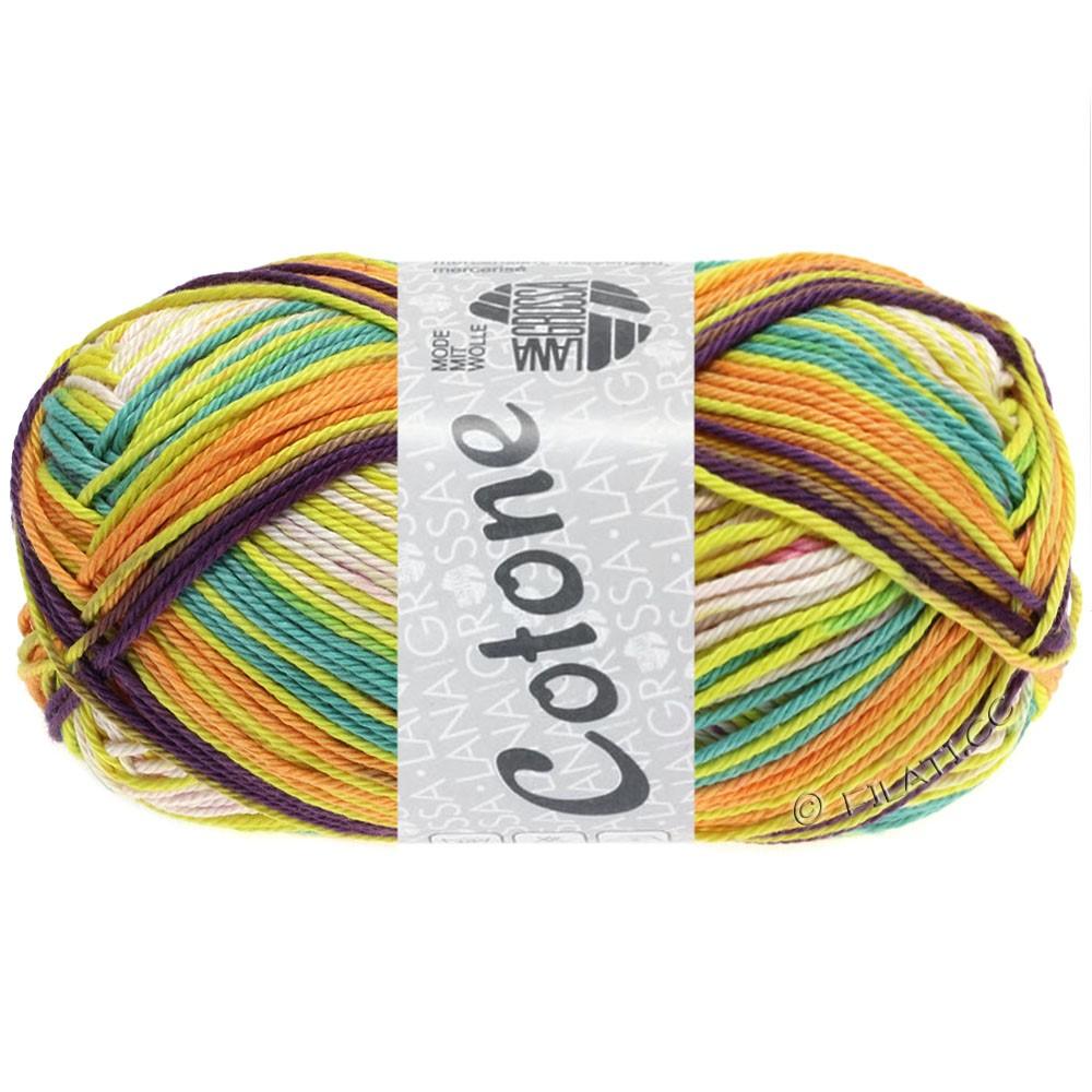 Lana Grossa COTONE Print | 151-nature/rose/orange/violet/jaune/vert clair
