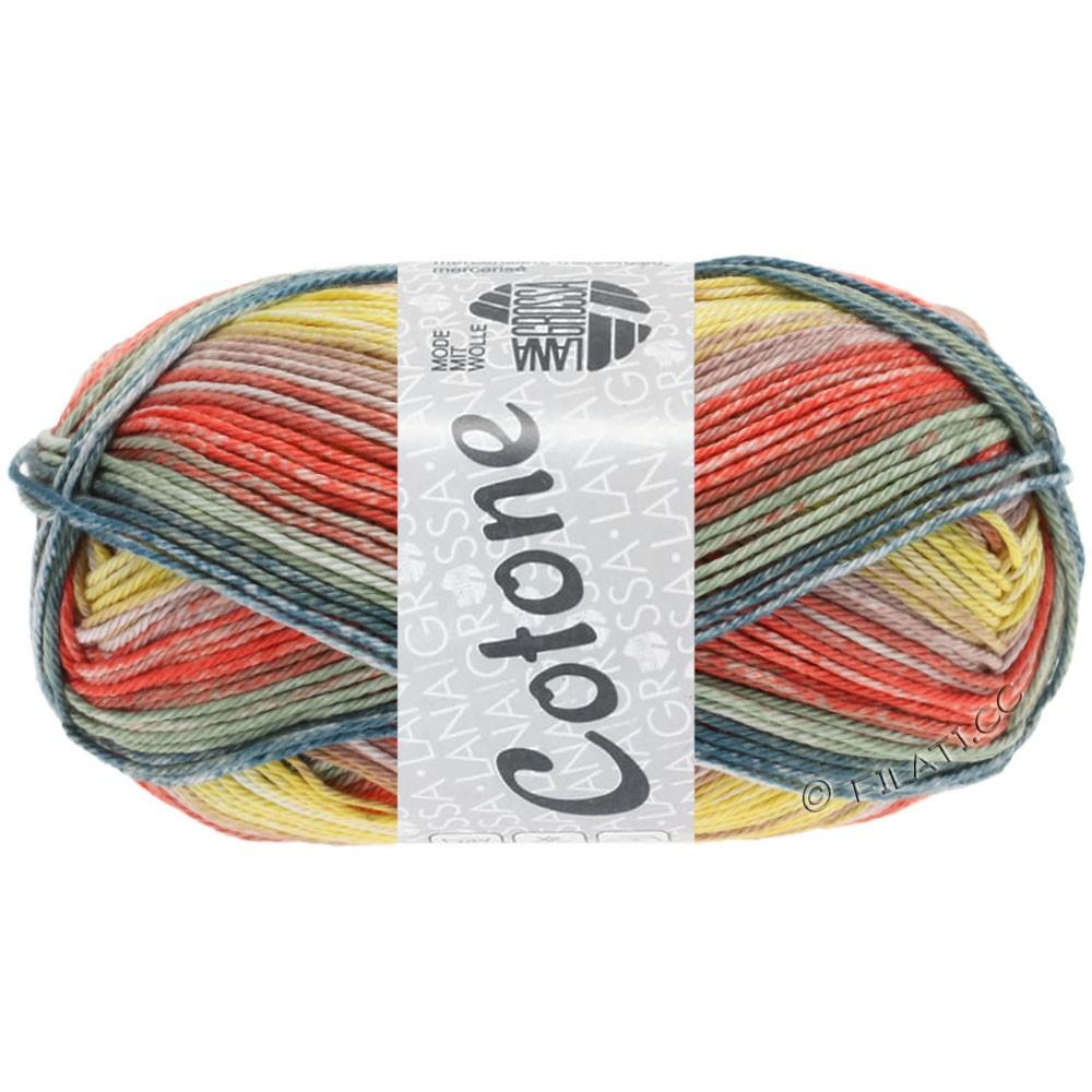Lana Grossa COTONE  Print/Denim | 253-vanille/terre cuite/gris vert/jean/beige