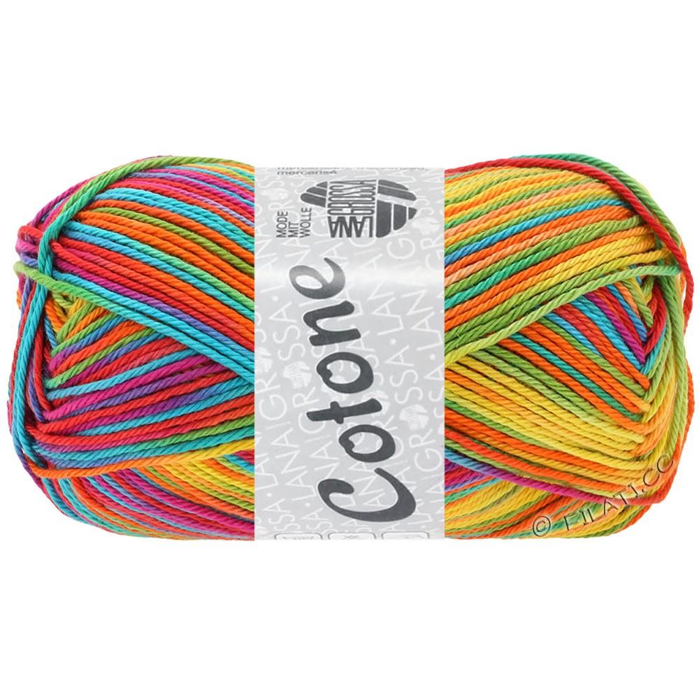 Lana Grossa COTONE  Print/Denim | 306-jaune/orange/turquoise/vert/corail/violet