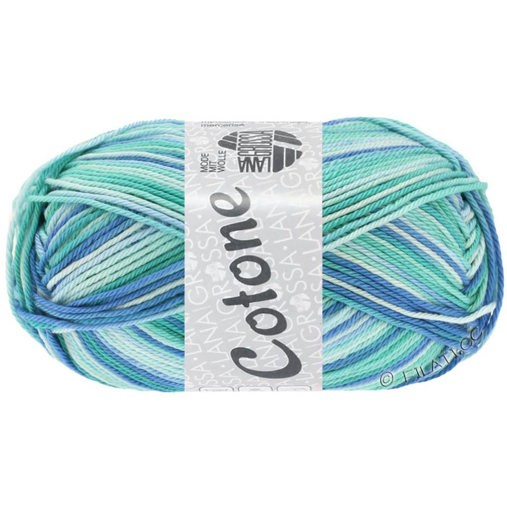 Lana Grossa COTONE  Print/Denim | 312-bleu glace/turquoise clair/bleu