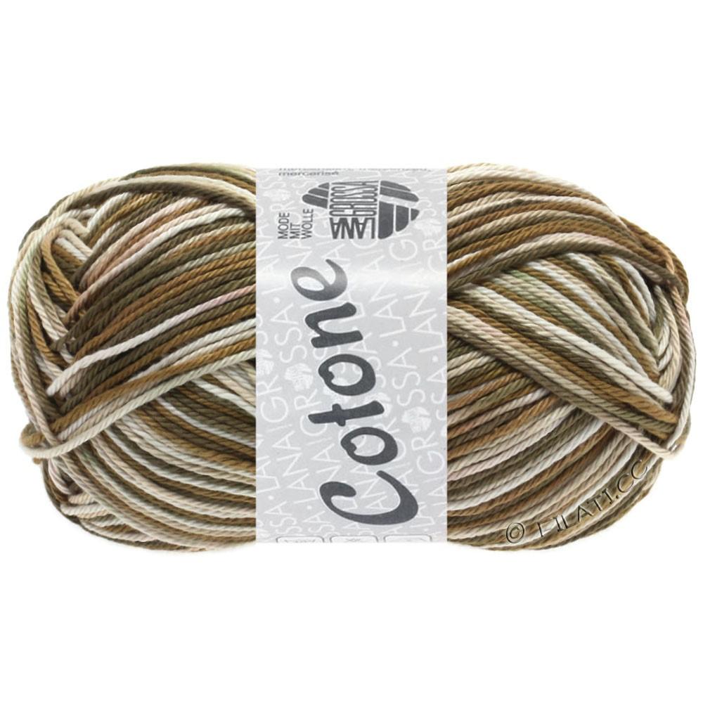 Lana Grossa COTONE Print | 328-nature/gris clair/brun ocre/brun gris