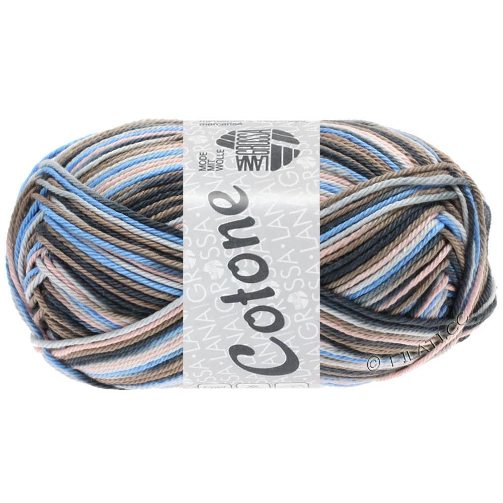 Lana Grossa COTONE  Print/Denim | 332-gris clair/taupe/bleu clair/anthracite