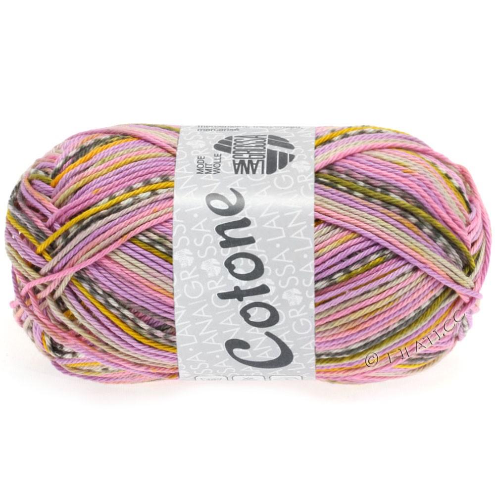 Lana Grossa COTONE Print | 506-lilas/jaune/rose/beige/moka/blanc