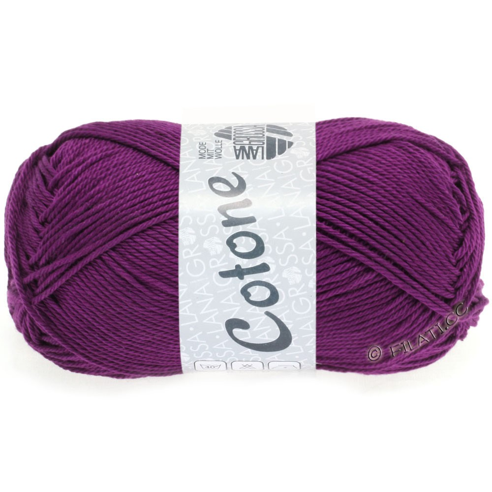 Lana Grossa COTONE | 45-violet foncé