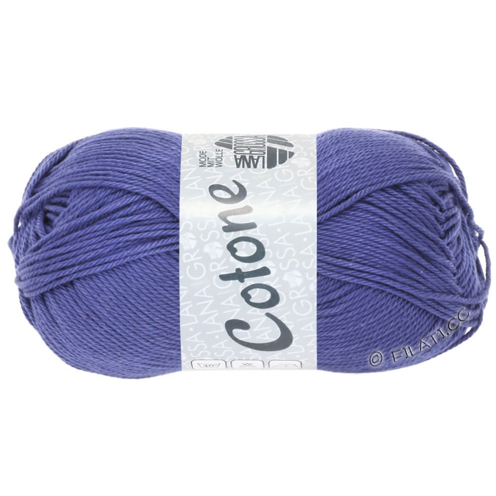 Lana Grossa COTONE | 62-bleu comme violettes
