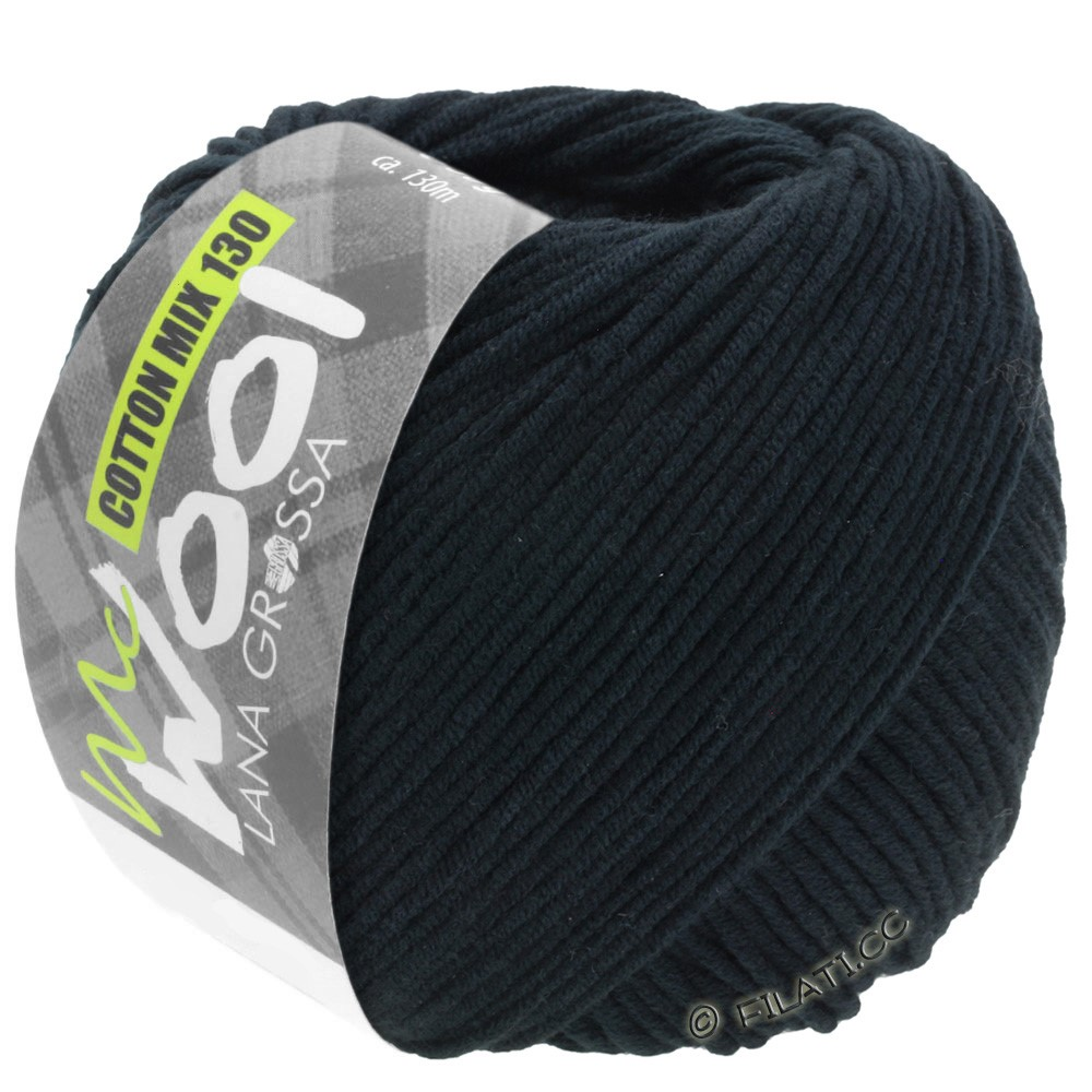 Lana Grossa COTTON MIX 130 (McWool) | 118-noir