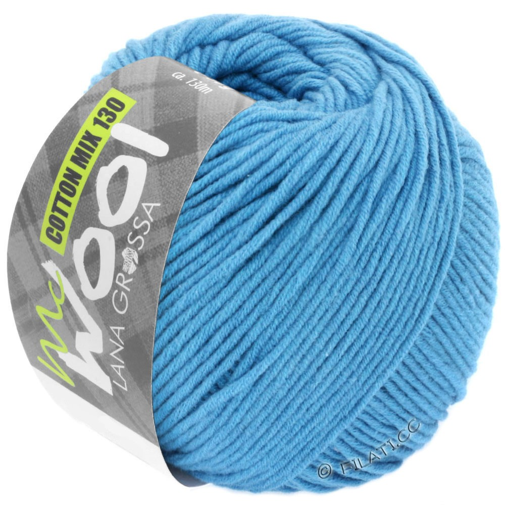 Lana Grossa COTTON MIX 130 (McWool) | 137-bleu ciel