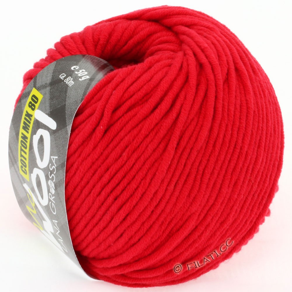 Lana Grossa COTTON MIX 80 (McWool) | 503-rouge