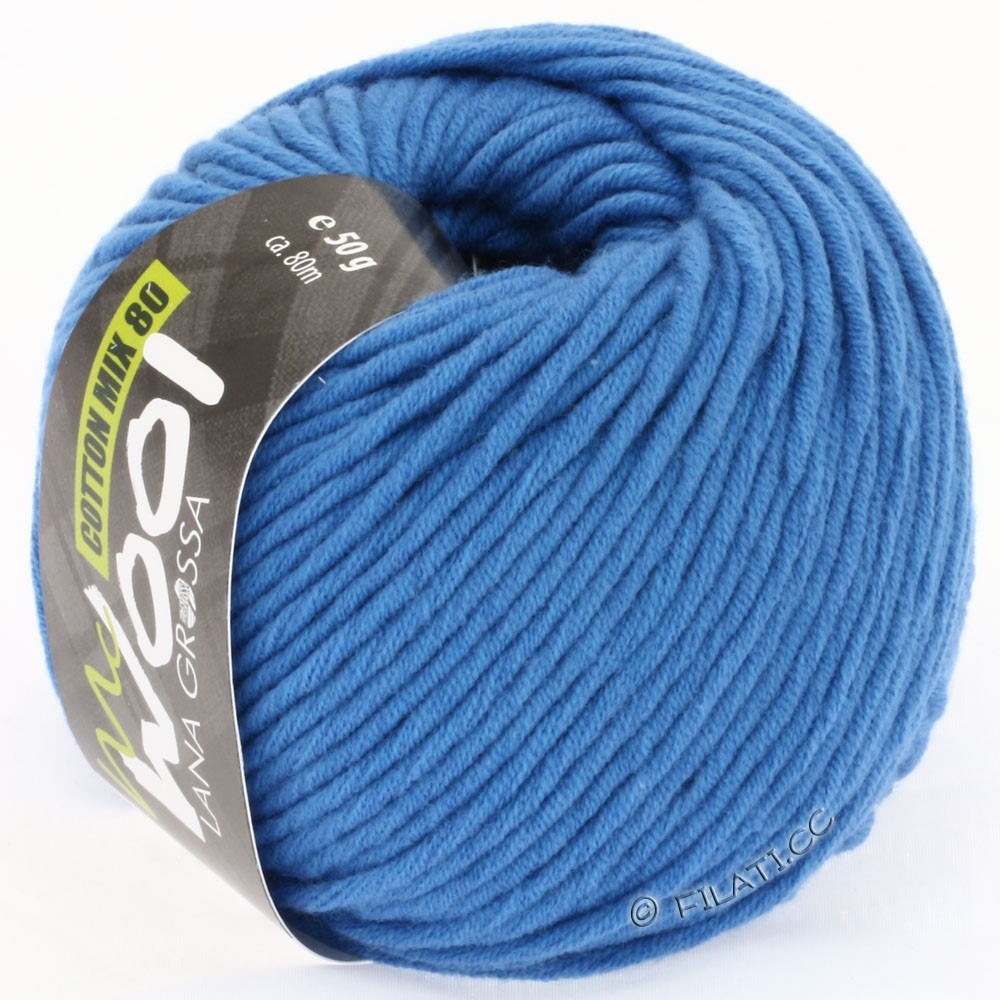 Lana Grossa COTTON MIX 80 (McWool) | 512-bleu